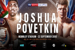 Anthony Joshua - Alexander Povetkin boxing tickets